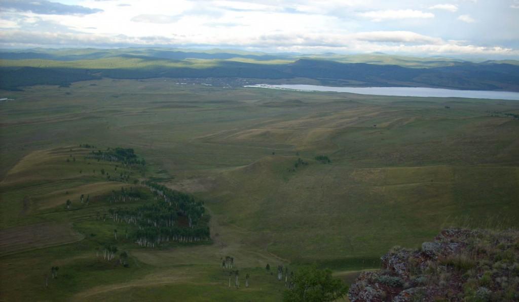 Вид с горы Свялик